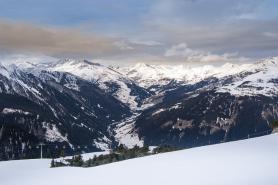 Pohled na Zillertal v zimě