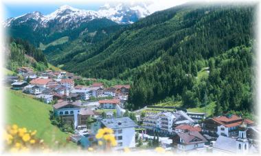 Rakousko - část vesnice Gerlos