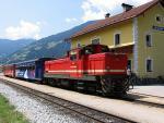 Železniční stanice v Zell am Ziller, Rakousko